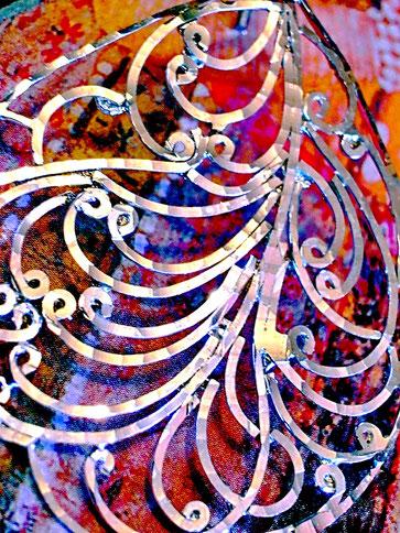 Chandini earrings: sterling-silver, flat wire-work frame, fine thread-like filigree, cut-work, high-polish finish