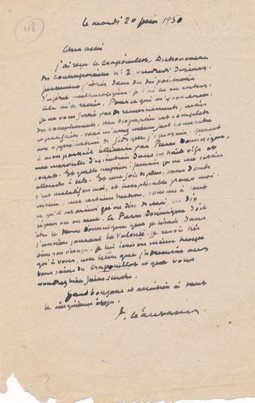 Paul Léautaud lettre autographe signée
