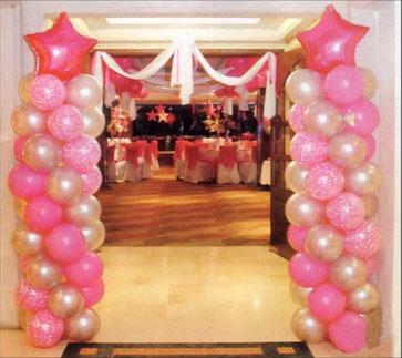 globos decoracion entrada 15 años