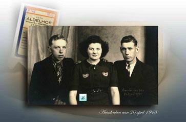 Aandenken  april 1943 - Fons Beets - Gerarda van café Jagershuis - Frans Verdickt