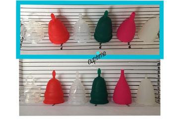 Cup Vergleiche Vergleichsbilder Menstruationstassen Menstrual Cups Monatshygiene Lady Ladies Frau Frauen Größen Periode Becher