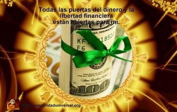 CONSTRUYE TU RIQUEZA -  ATRAE RIQUEZA, DINERO, ABUNDANCIA, PROSPERIDAD Y ÉXITO - LEY DE ATRACCIÓN -Todas las puertas del dinero y de la libertad financiera están abiertas para mi. - PROSPERIDAD UNIVERSAL