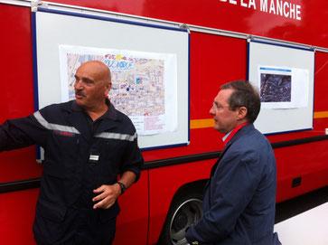 Au PC des pompiers de Saint-Lô
