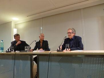Hannes Benedetto Pircher, Anita Natmeßnig, Klaus Kufeld v. l. n. r.