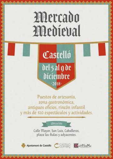 Programa del Mercado Medieval de Castellón de la Plana
