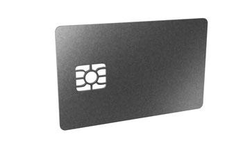 Codierte kontaktbehaftete Chipkarten individuell bedruckt