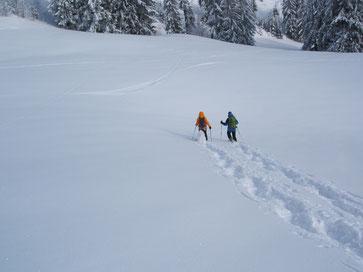 Gruppenevent Schneeschuhwandern Schneeschuhlaufen