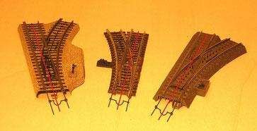 3 Schienen, 2 Leiter - die Außenschienen bilden immer einen Leiter, der PuKo in der Mitte den zweiten Leiter.