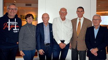 v. links: Clemens Kauling, Waltraut Boving, Franz-Josef Schumacher, Heinz Broer, Dr. Stefan Gehrold (MdEP), Manfred Ostendorf