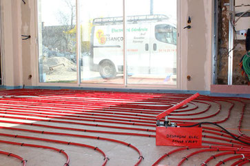 Installation d'un plancher chauffant hydraulique