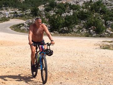 eine schwere Tour hinauf zur Punta Ruina