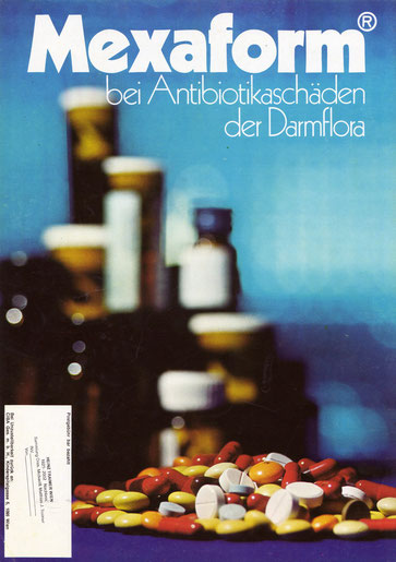 Mexaform Ciba Werbung 1971. Medikamenten Werbung der 1970er Jahre.