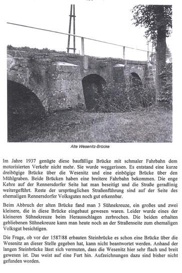 Bild:Teichler Seeligstadt Sachsen  Alte Wesenitzbrücke in Rennersdorf