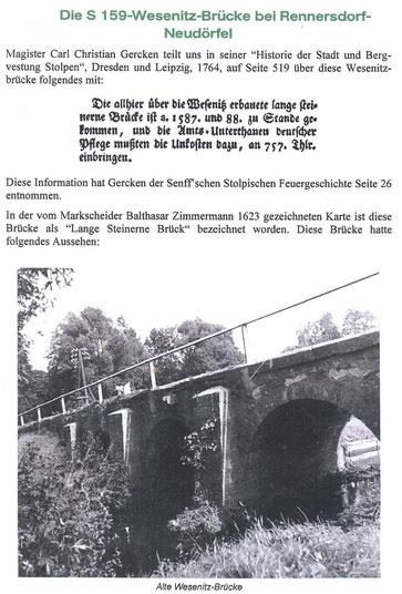Bild: Teichler Seeligstadt Sachsen Alte Wesenitzbrücke in Rennersdorf