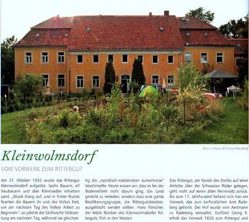 Bild: Seeligstadt Kleinwolmsdorf Rittergut