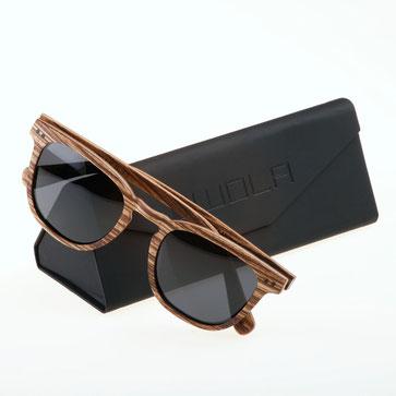 Holz Sonnenbrille Zebra