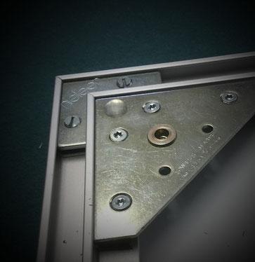 Keilrahmen bespannen - L-Profilrahmen mit Aufhänger