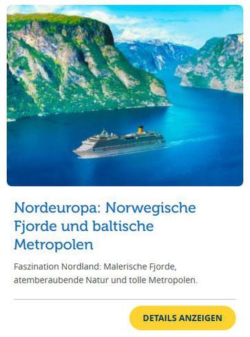 Costa Kreuzfahrten Angebot der Woche ins Baltikum & Norwegische Fjorde ab Kiel 2019