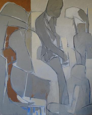 O'Miles / Huile sur toile 162 x 130
