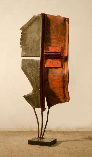 Pièce originale en acier peint soudé - 2009 - 70 x 30 x 20       Collection privée - Tirage Bronze I à VIII - Fonderie Le Floch à Blain