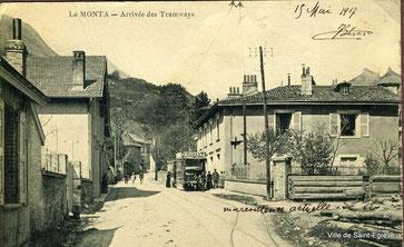 La Monta - Arrivée des Tramways