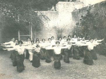 Ecole de Pau - 1906 - Cours de gymnastique suédoise