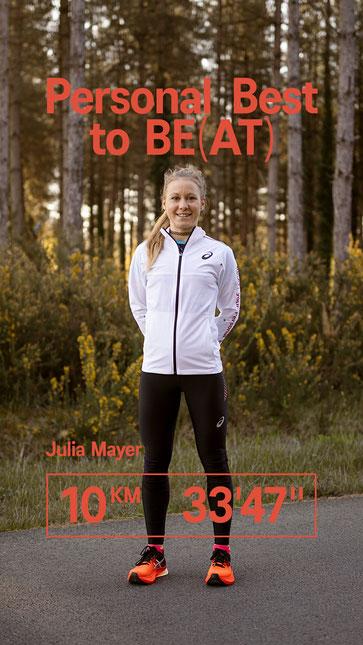 Julia Mayer 10km Straße Bestzeit Nummer 3 all time 3. schnellste Österreicherin platz 2 ASICS Metaspeed Sky Frankreich Morton