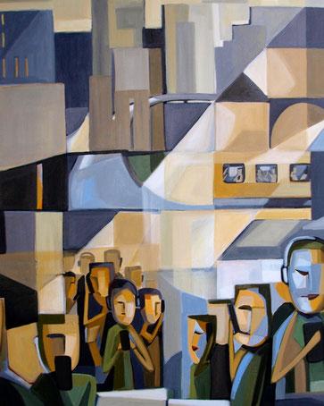 Mania, Acryl auf Leinwand, 80 x 100 cm, 2016