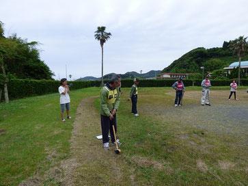 そしてBOSSは伊作田地区のグランドゴルフ大会~!ちらっと見に行きました