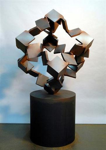 Metamorphosis  ひらかれた立方体 <No.M - 12> /  2005       /  cor-ten steel (耐候性鋼)  /  H.170x95x100 cm