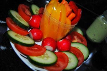 Detox Rezepte / Snacks / Gemüseteller