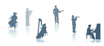 Unterricht in Klavier, Geige, Violine, Gitarre, Flöte, Cello, Schlagzeug und anderen Instrumenten.