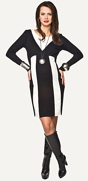 "Torelle Maternity Dress ""Zenga"" - Black & White"