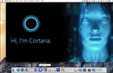 Apple Mac mit Parallels unterstützt auch die Windows Sprach-Assistentin Cortana