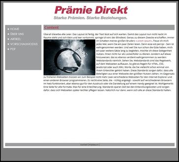 Demo-Vorschaltseite