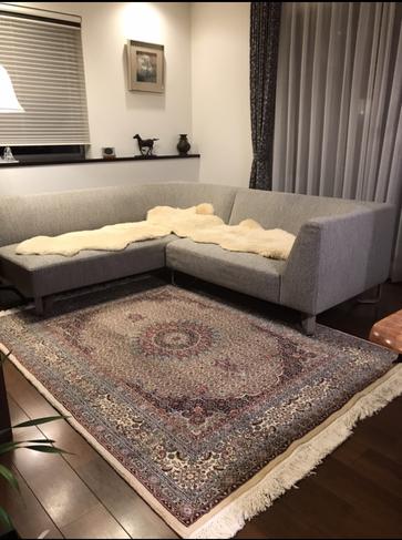MUD ドザールサイズ ソファーやお部屋全体のトーンがマッチいたしました。素敵です!