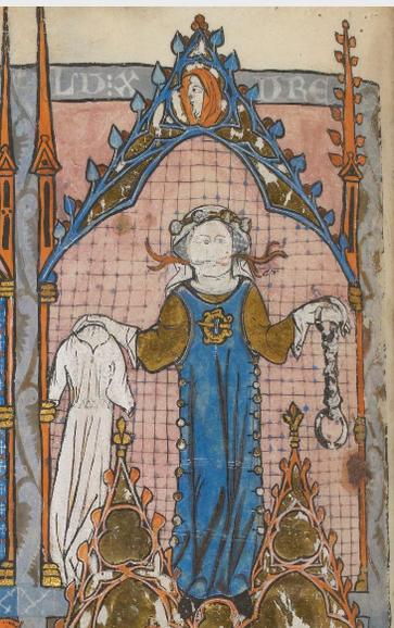 Fig. 8 - Frère LAURENT, Somme le Roi, France, 1294 Français 938 Folio 120v (BNF).