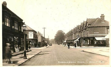 Raddlebarn Road in 1928; image posted by Ian Hamilton Fazey in the Livingston Family Archive on the Off Exploring website