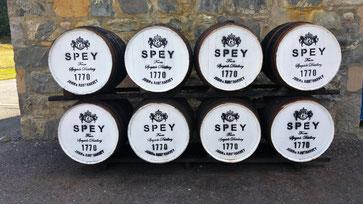 Fässer der Speyside Distillery