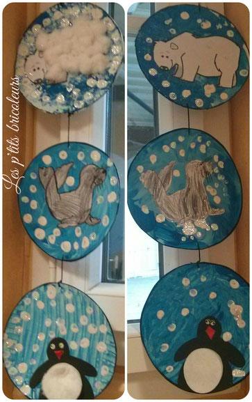 Guirlande des animaux polaires lesptitsbricoleurss - Guirlande noel maternelle ...