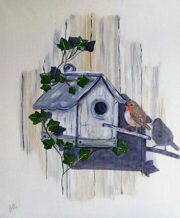 18.Home sweet home 50x60 cm VERKOCHT