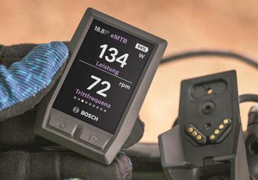 Das Bosch Kiox e-Bike Display eignet sich für alle Fahrer mit sportlichen Ambitionen und kann als Fitnesscomputer genutzt werden