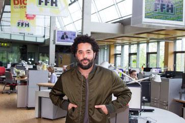 Adel Tawil zu Gast im FFH-Funkhaus in Bad Vilbel.
