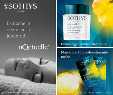 La linea Noctuelle de Sothys está pensada para ofrecer a la piel el descanso nocturno que necesita. Compra Noctuelle de Sothys on-line en esteticacosmetica.