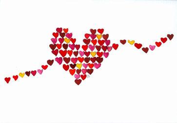 Grußkarte Herz Liebe
