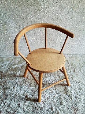 Chaise maternelle bois vintage années 50