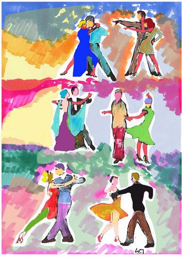 Illustration für meinen Beitrag über Tanzschulen