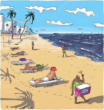 Meister BECK meint: Kein Strand ohne Buch!