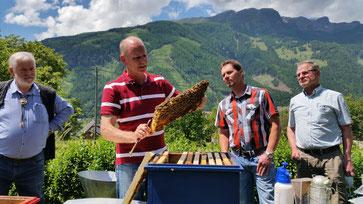 IM Hansjürg Aschbacher als Lehrmeister im Einsatz für den Fortbestand unserer heimischen Carnica Biene und Förderung von Jungimkern