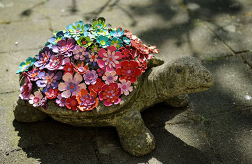 Blütenschildkröte Kunsthandwerk Sabine Korn